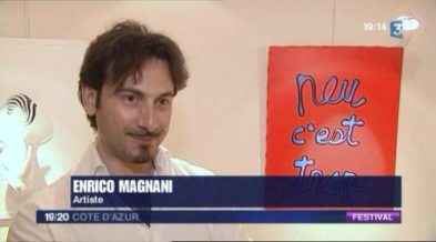 Enrico Magnani, magnani, france 3, tv, interview