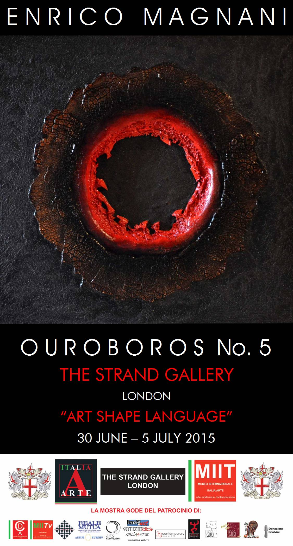 Enrico Magnani, OUROBOROS, art, london, londra, gallery, shape, language
