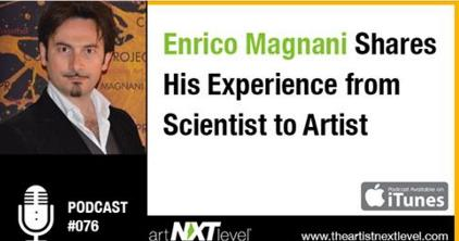 chicago, exhibition, universal, flag, enrico magnani, art, podcast, interview, intervista, scientist, artist