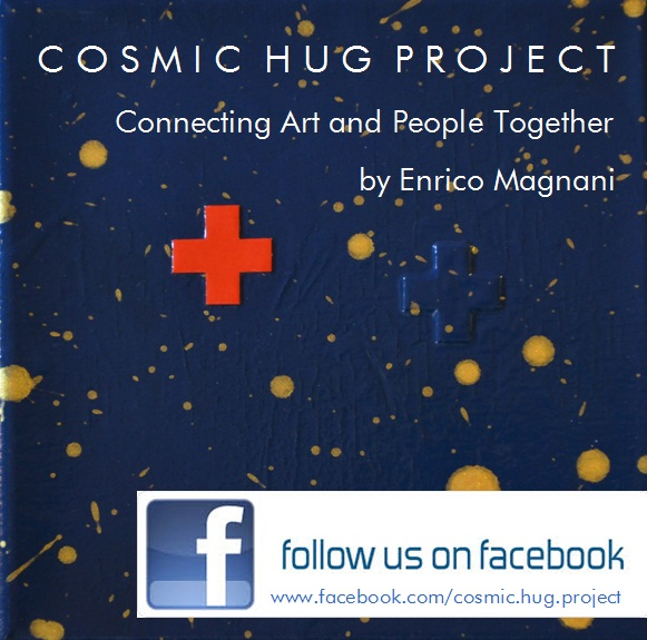 enrico magnani, art, project, cosmic, hug, facebook